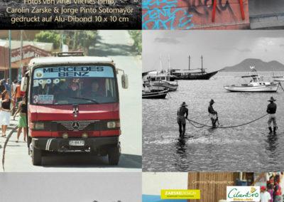 Aluschilder Fotos Chile 10x10cm 1